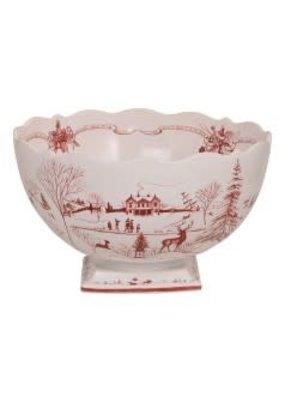 "Juliska Juliska CE 17"" Center Piece Bowl- Ruby"
