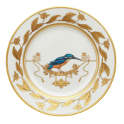 """Richard Ginori Richard Ginori Voliere Martin-Pecheur Dessert Plate 7.75"""""""