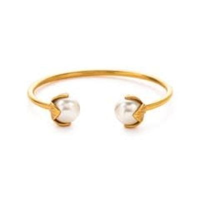 Julie Vos **disc** Julie Vos Penelope Open Bangle Gold/Pearl