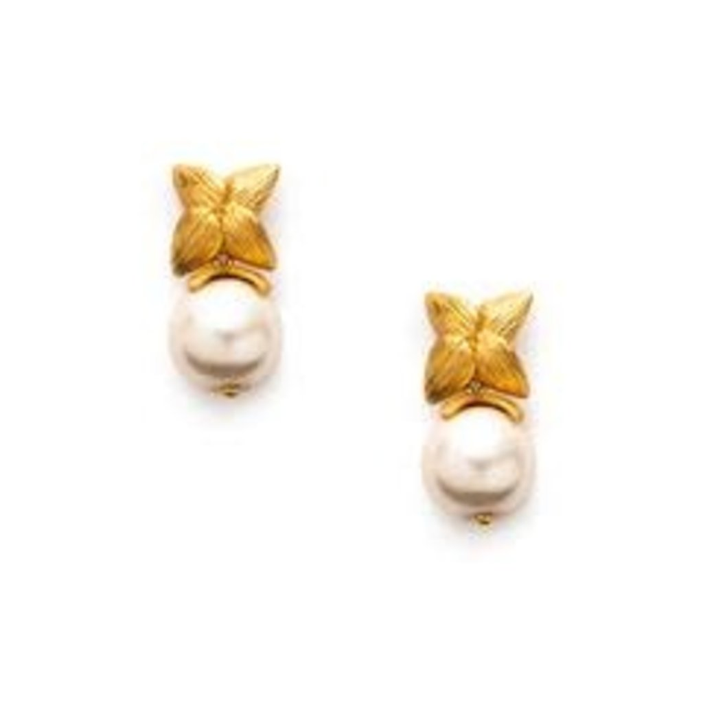 Julie Vos **disc** Julie Vos Penelope Pearl Cap & Post Earrings
