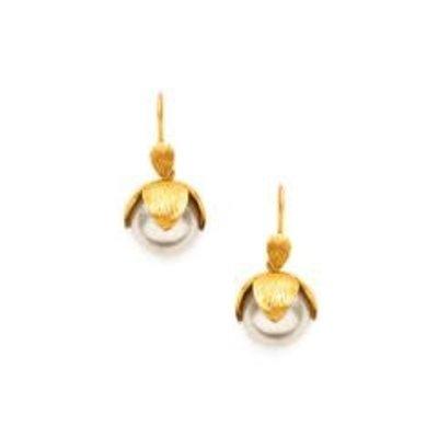 Julie Vos Julie Vos Penelope Drop Pearl Earring