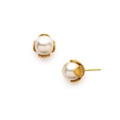 Julie Vos Julie Vos Penelope Stud Gold/Pearl Earring