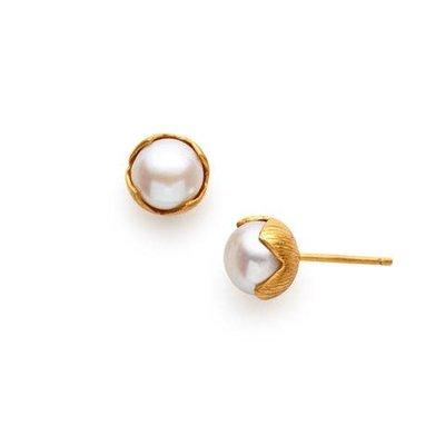 Julie Vos Julie Vos Penelope Petite Stud Pearl Earring