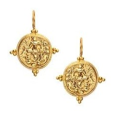 Julie Vos Julie Vos Quatro Coin Earring- Gold