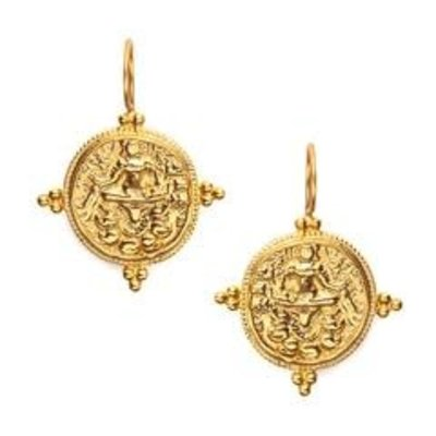 Julie Vos Julie Vos Quatro Coin Earring- Gold