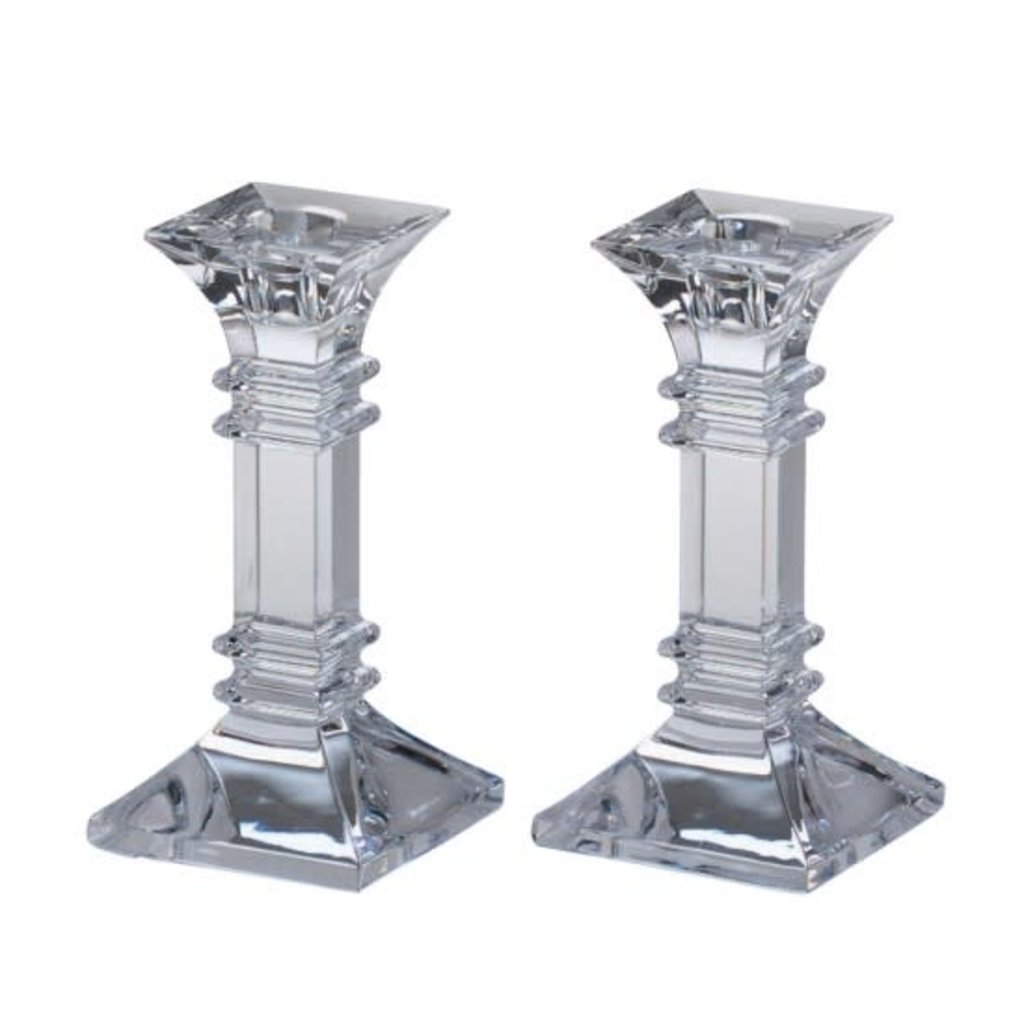 Wedgwood Waterford Treviso Candlesticks Pair 6in