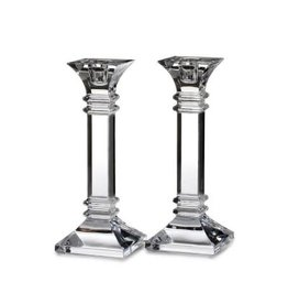 Wedgwood Waterford Treviso Candlesticks Pair 8in