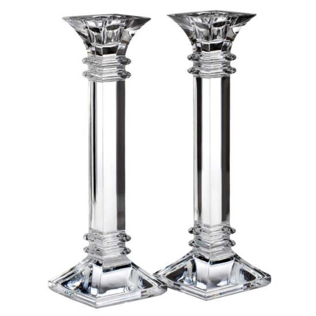 """Wedgwood Waterford Treviso Candlesticks Pair 10"""""""