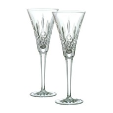 Wedgwood Waterford Lismore Toasting Flutes Pair