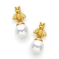 Julie Vos Julie Vos Bee Pearl Drop Earring
