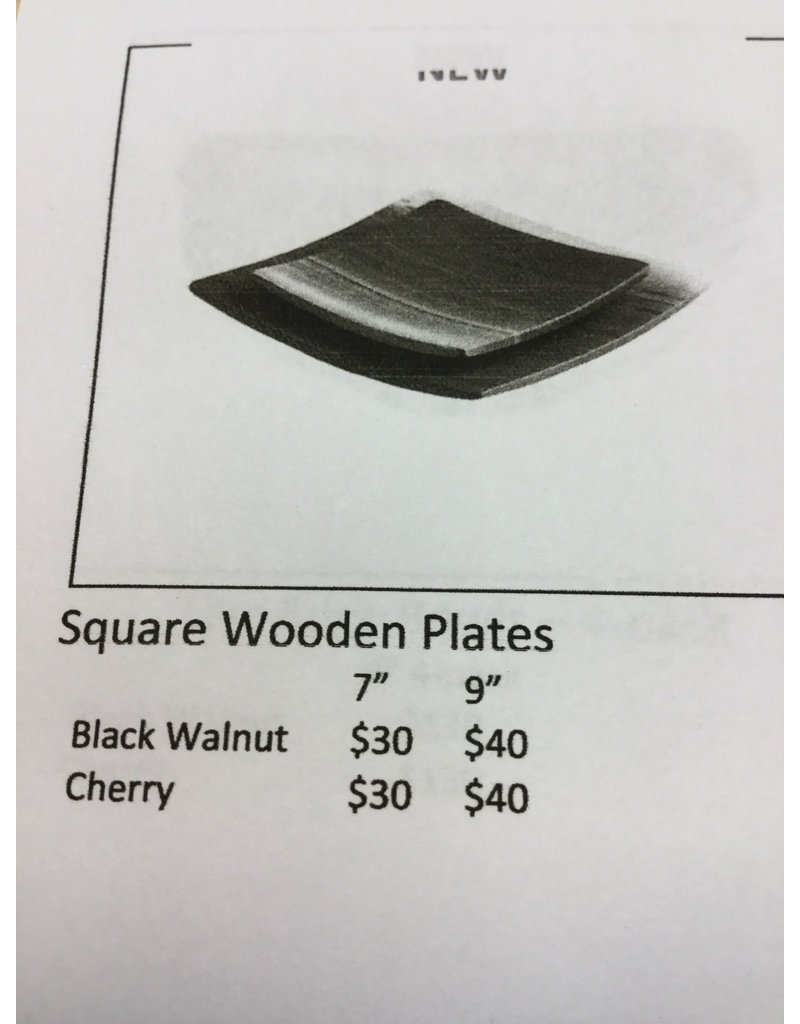 "Andrew Pearce Andrew Pearce Black Walnut Wood Plate 9"""