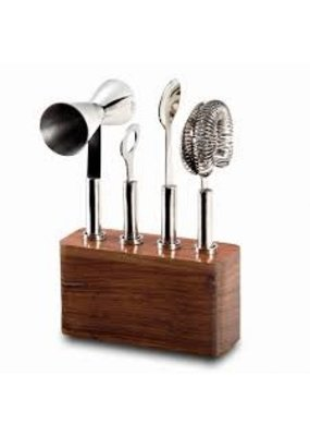 Mary Jurek Mary Jurek Cosmo Bar Set w/ Wood Base