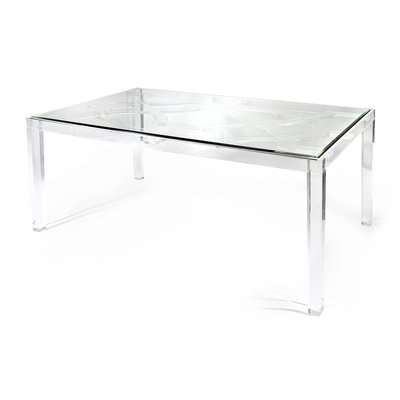 Nakasa Nakasa Vesparo Acrylic/Glass Dining Table