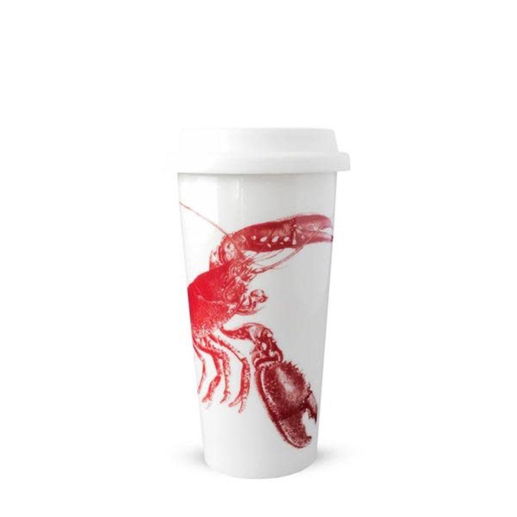 Caskata Caskata Lobsters Red 14oz Travel Mug with Lid