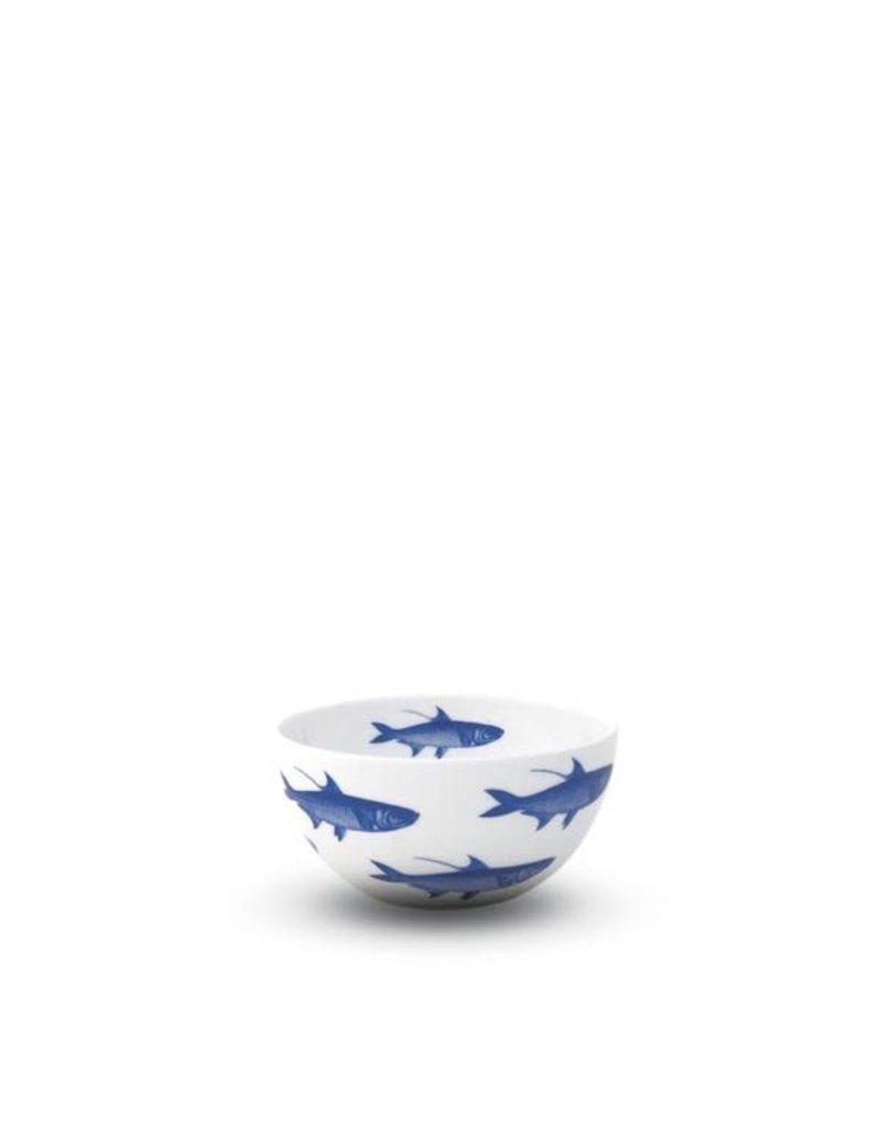 "Caskata Caskata School of Fish 4"" bowl- BLUE"
