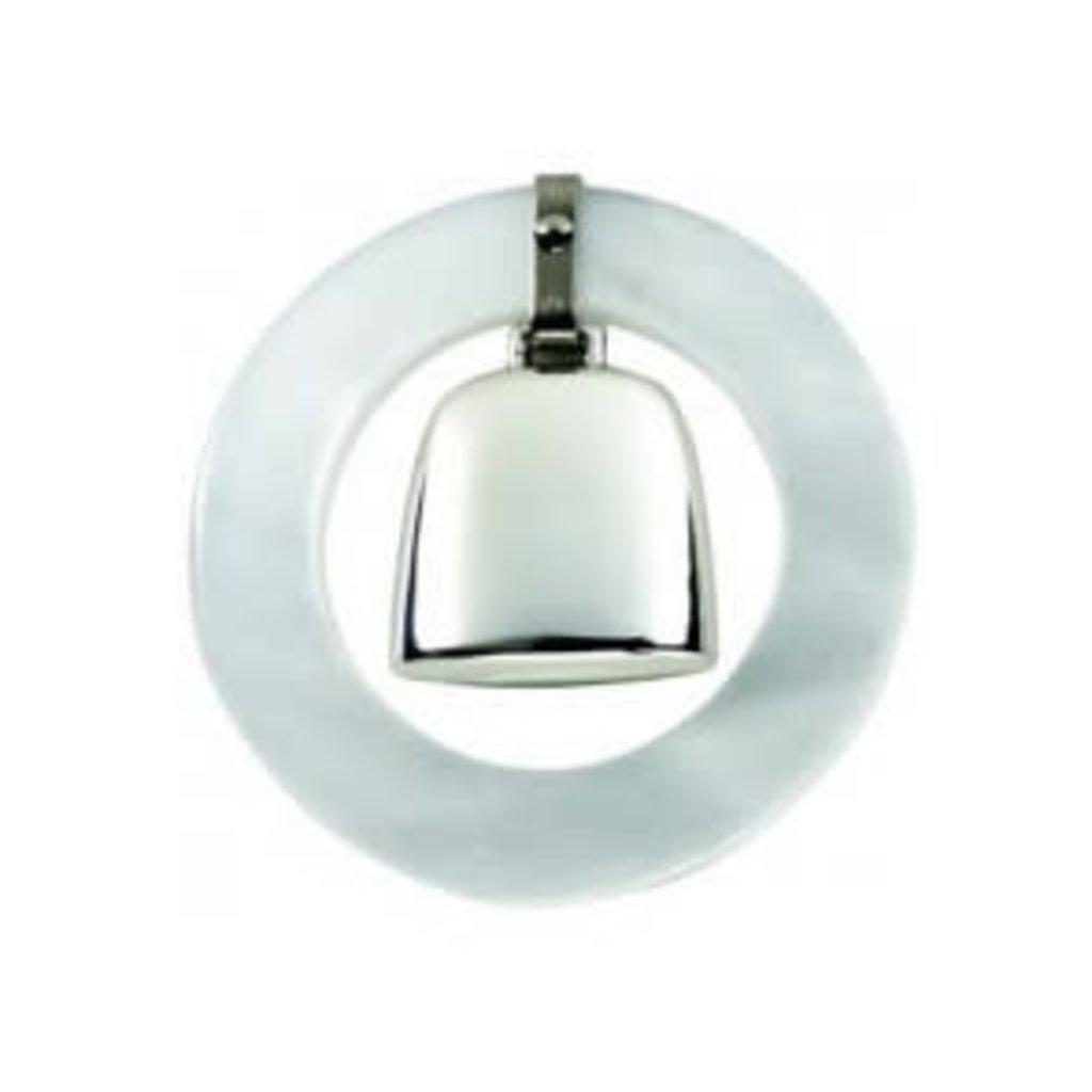 Salisbury Salisbury Sterling Teething Ring Rattle-White