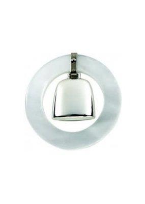 Salisbury Sterling Teething Ring Rattle-White
