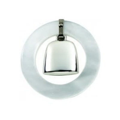 Salisbury Salisbury Sterling Teething Ring Rattle-White