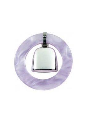 Salisbury Sterling Teething Ring Rattle-Pink