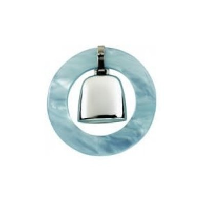 Salisbury Salisbury Sterling Teething Ring Rattle-Blue