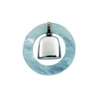 Salisbury Sterling Teething Ring Rattle-Blue