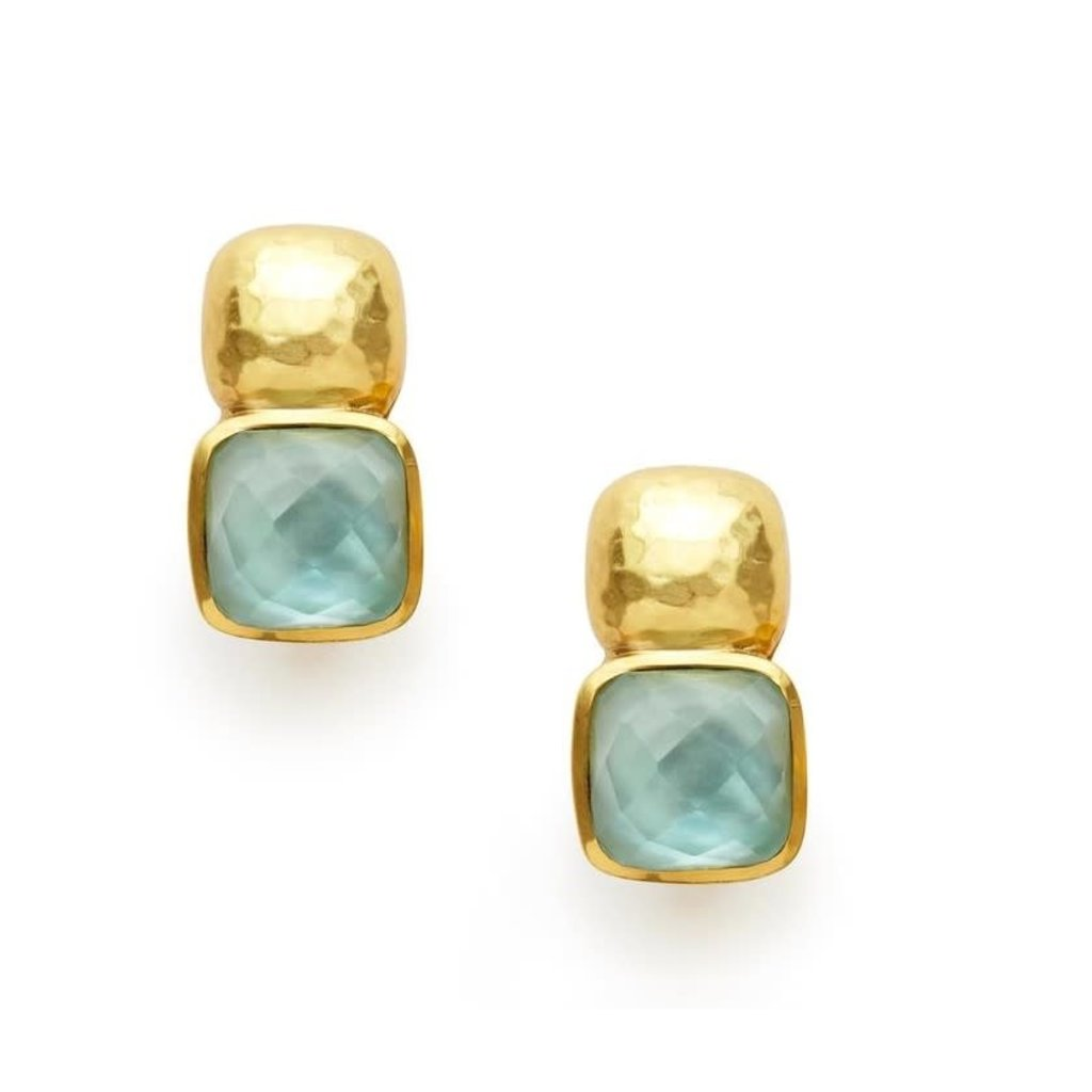 Julie Vos Julie Vos Catalina Earring Aquamarine Blue