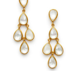 Julie Vos Julie Vos Clara Earring Clear Crystal