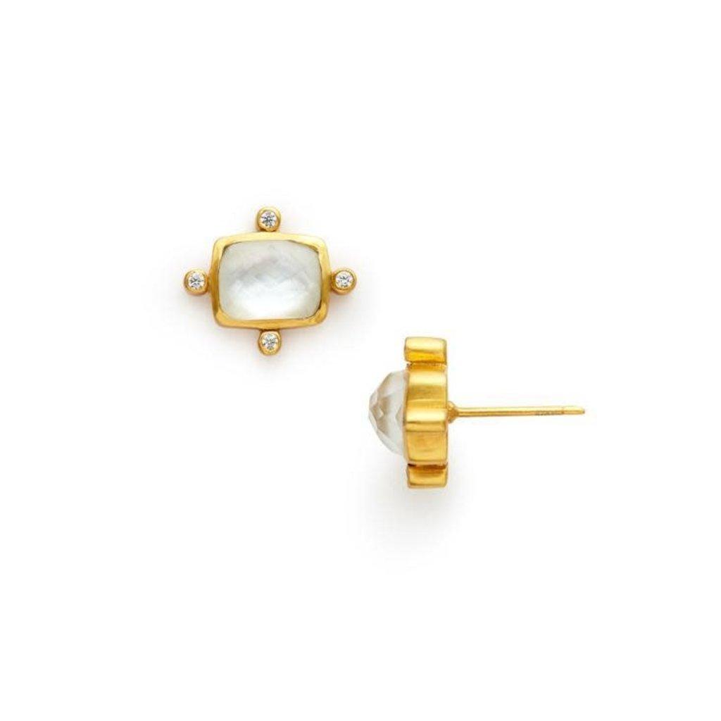 Julie Vos Julie Vos Clara Stud Earrings Clear Crystal