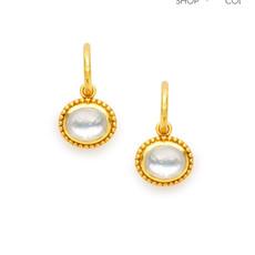 Julie Vos Julie Vos Siena Hoop Drop Earring Clear Crystal