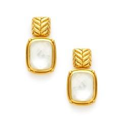 Julie Vos Julie Vos Monterey Earring Clear Crystal