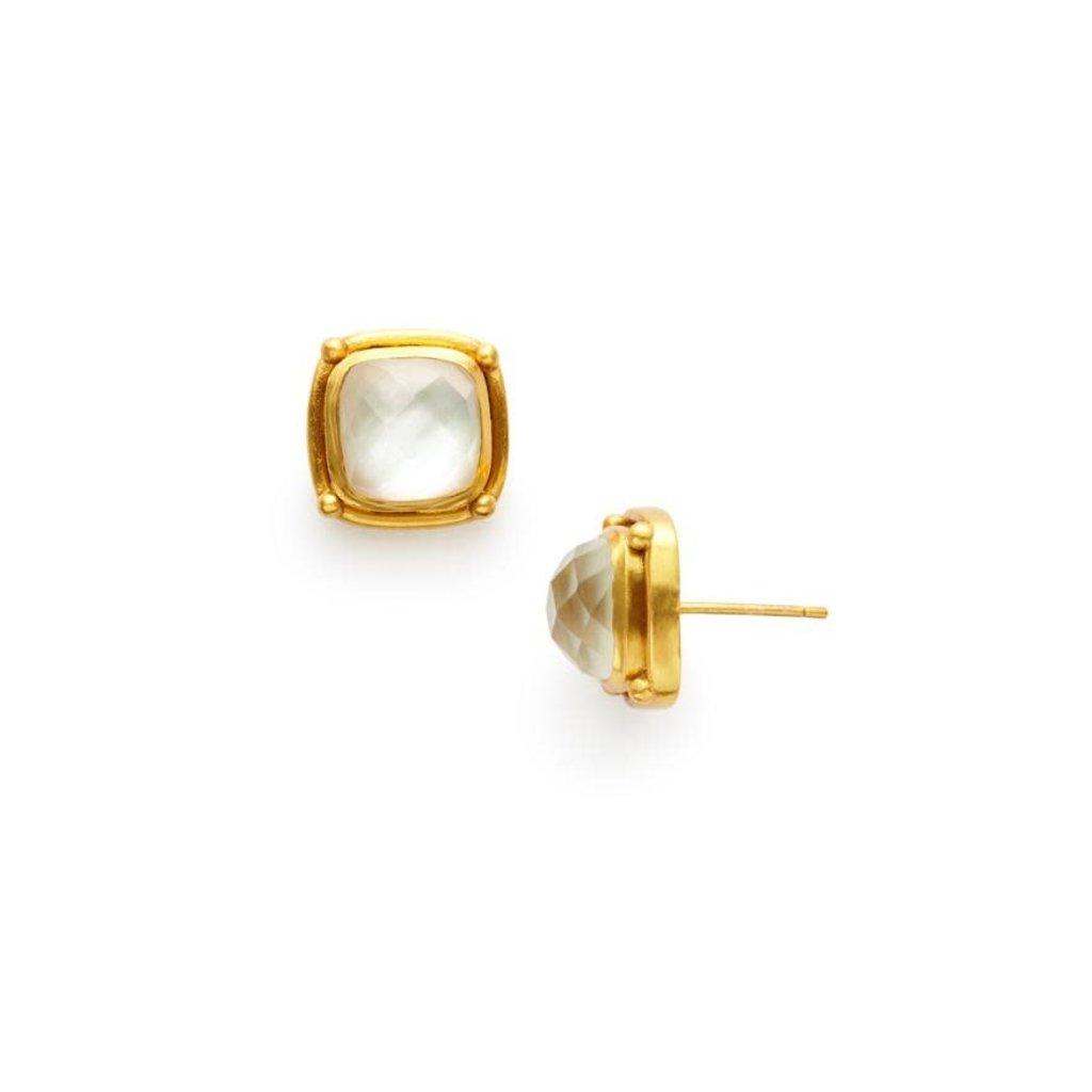 Julie Vos Julie Vos Monterey Stud Earring Clear Crystal