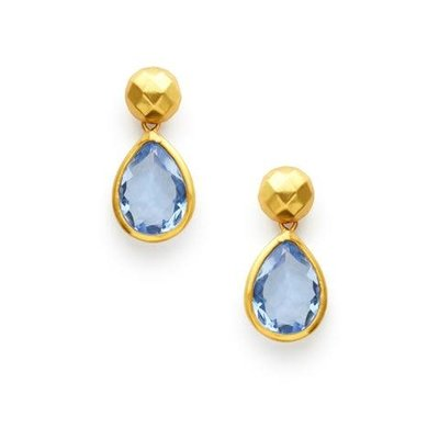 Julie Vos Julie Vos Catalina Midi Earring Chalcedony Blue