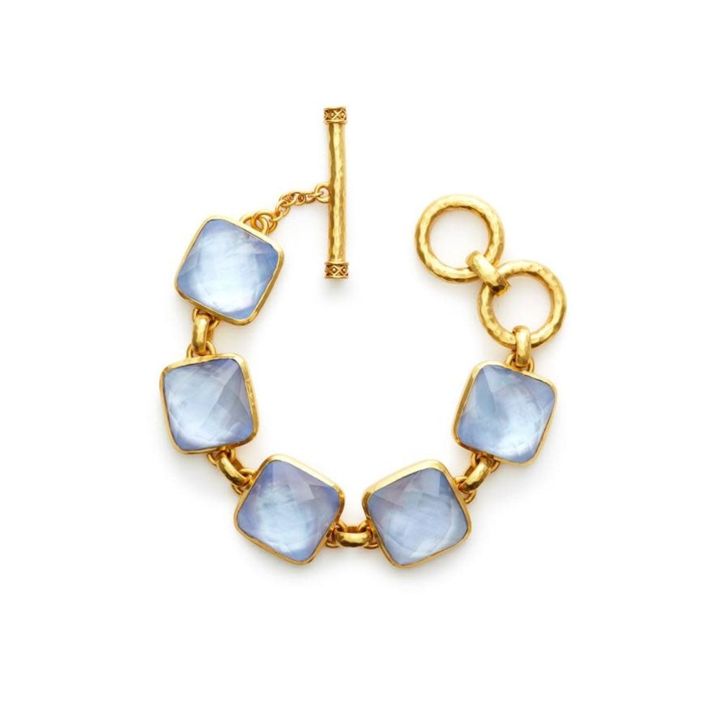 Julie Vos Julie Vos Catalina Stone Bracelet Chalcedony Blue