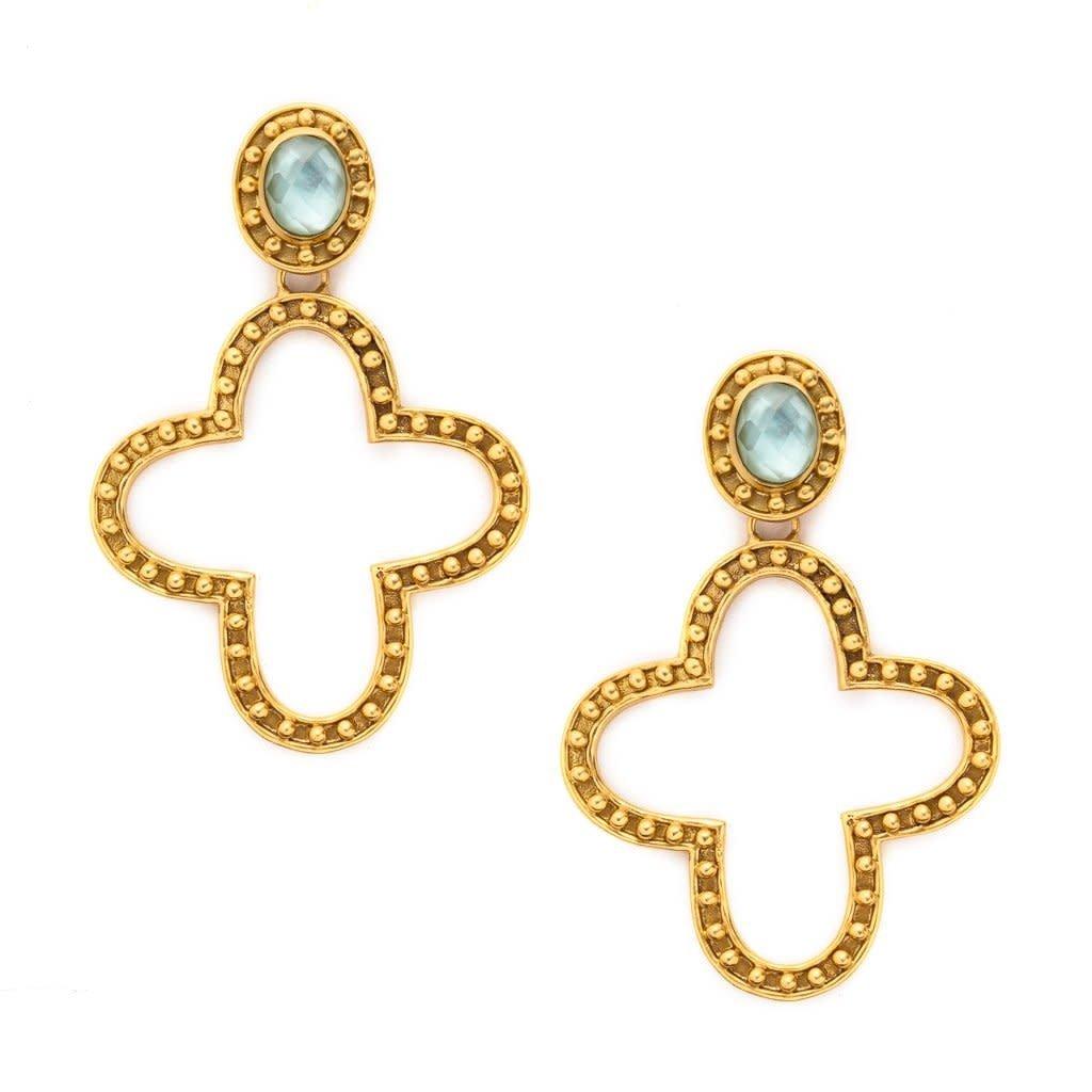 Julie Vos Julie Vos Siena Statement Earrings Aquamarine