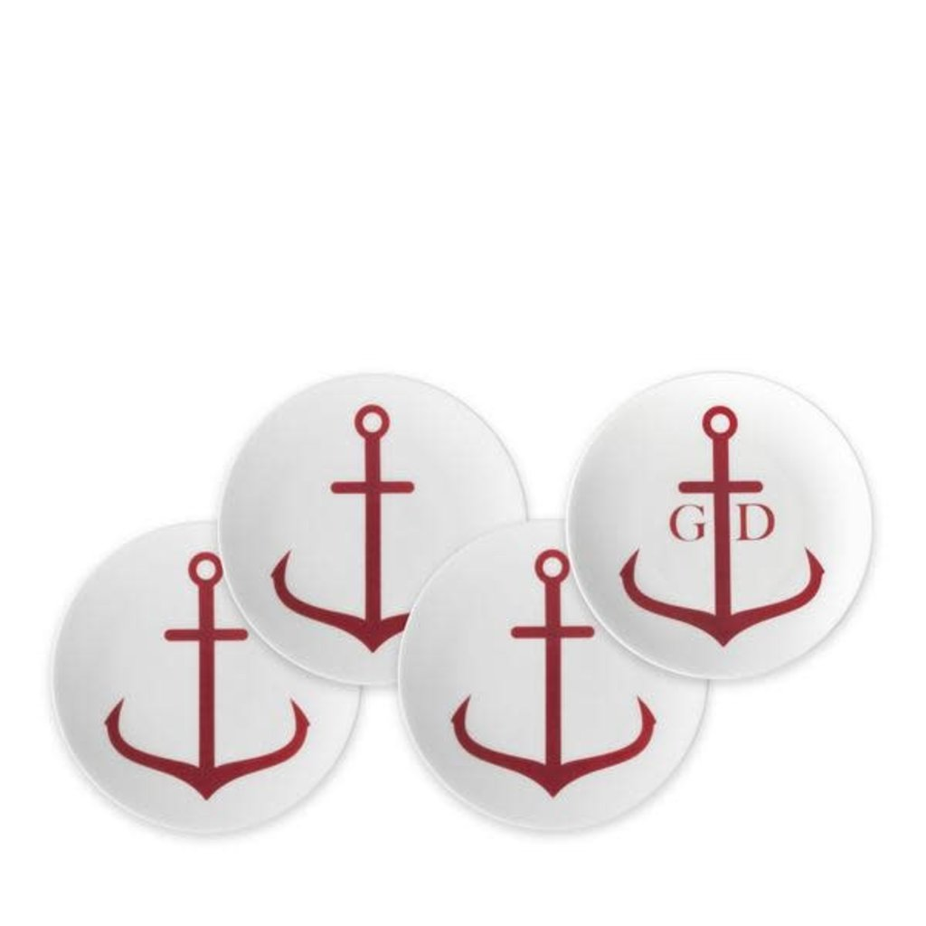 Caskata Caskata Canapé Boxed Set/4 Anchors Red (20% off )