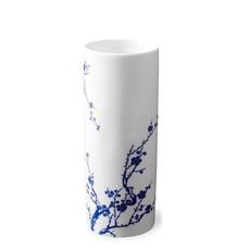 "Caskata Caskata Cylindrical Vase Quince Blue 8.5"""
