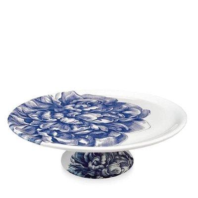 """Caskata Caskata Cake Pedestal Single Peony Blue 12.25"""""""