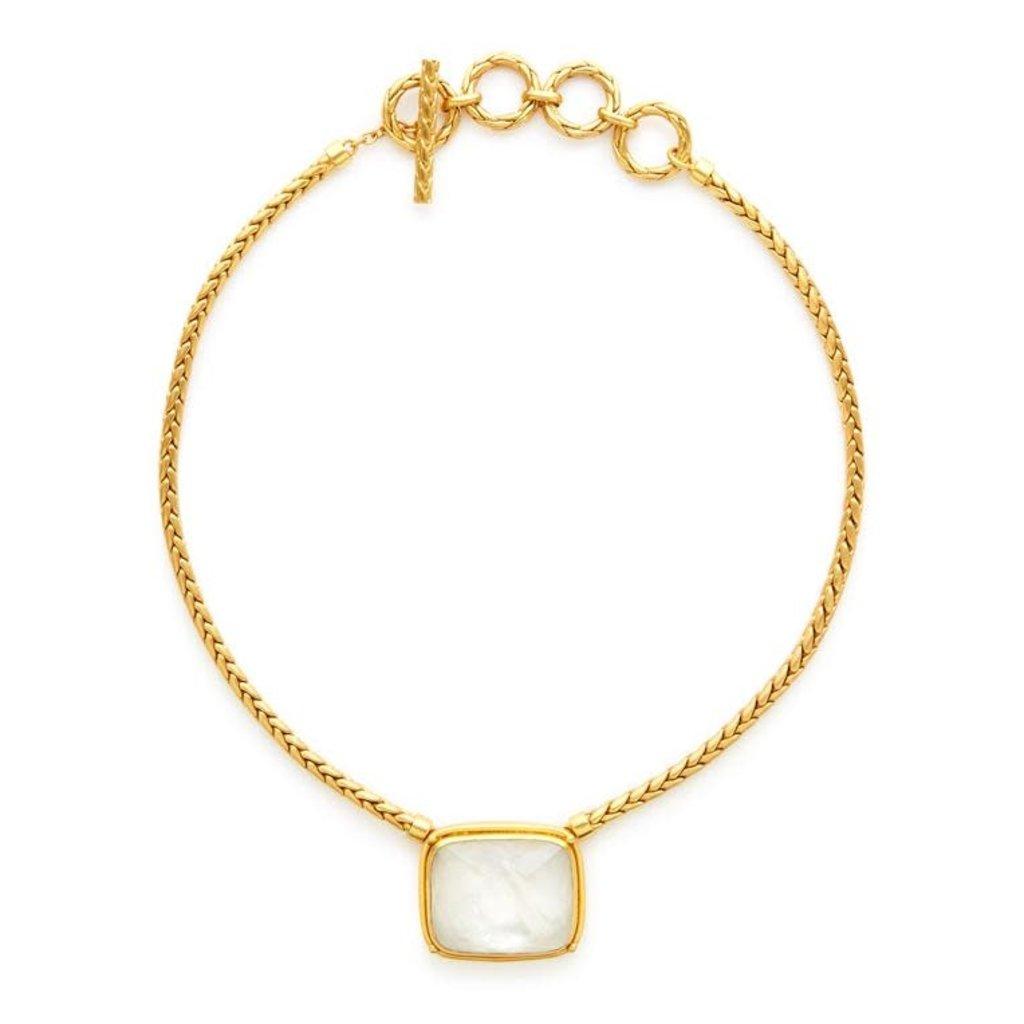 Julie Vos Julie Vos Monterey Statement Necklace Clear Crystal