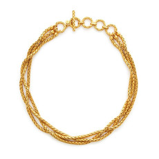 Julie Vos Julie Vos Monterey Gold Woven Necklace