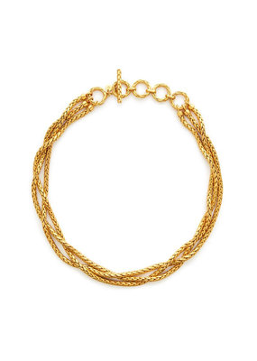 Julie Vos Julie Vos Monterey Gold Woven Necklace