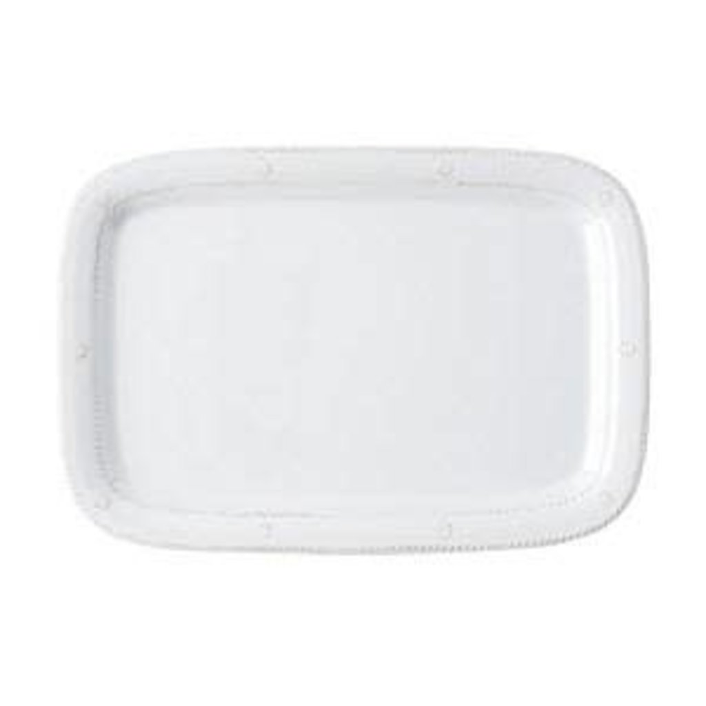 "Juliska Juliska B&T Melamine Platter Whitewash 16""L"
