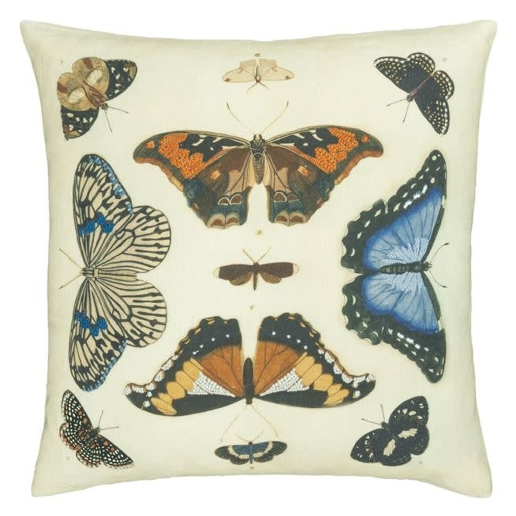 Designers Guild Designers Guild Mirrored Butterflies Parchment Cushion 20x20