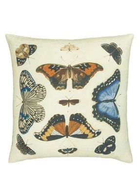 Designers Guild Designers Guild Mirrored Butterflies Parchment Cushion 20x20