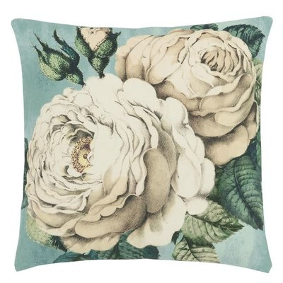Designers Guild Designers Guild The Rose Swedish Blue Cushion 20x20