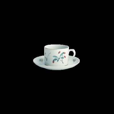 Mottahedeh Mottahedeh Famille Verte Can Tea Cup & Saucer