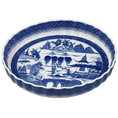 Mottahedeh Mottahedeh Blue Canton Quiche Dish