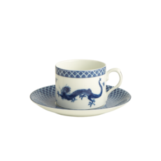 Mottahedeh Mottahedeh Blue Dragon Can Cup & Saucer