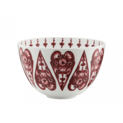 Richard Ginori Richard Ginori Babele Red HIgh Bowl 4""