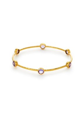Julie Vos Julie Vos Milano Bangle Amethyst Purple M