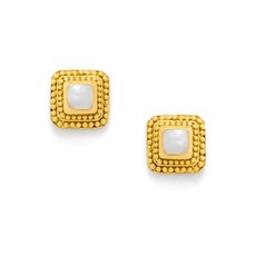 Julie Vos Julie Vos Luxor Stud Earrings Shell Pearl